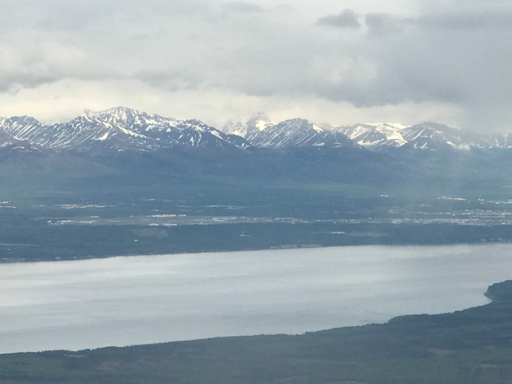 Landing in cloudy Anchorage
