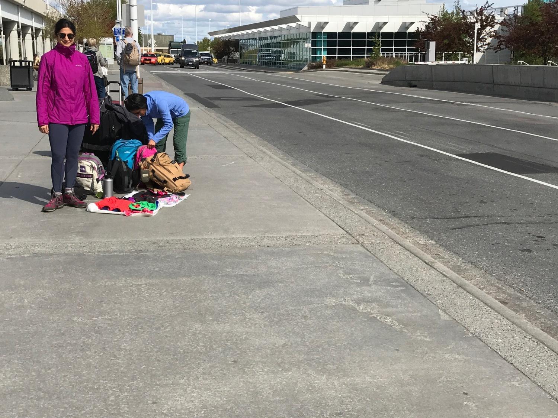 Waiting at Anchorage airport